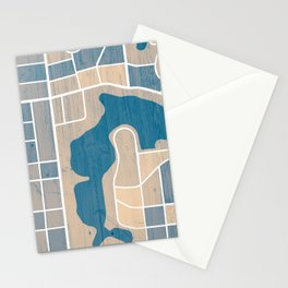 Orlando City Map Stationery Cards