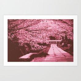 Sakura Monochrome Art Print