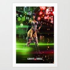 Scarlett Johansson as Motoko Kusanagi - Ghost in the Shell Art Print