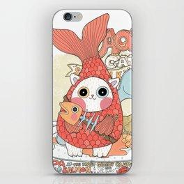 Aqua cat_ Rappa iPhone Skin