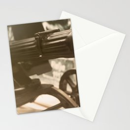 Old machine Gun. Maxim gun. First World War Machine gun. Stationery Cards