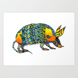 Alvaro the Armadillo Art Print