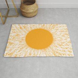 Large Sun Art Print | Abstract Sun Wall Art | Sun Rays Circle Print | Mid Century Modern Poster | ye Rug