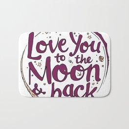 Love You to the Moon & Back...Merlot & Peach Bath Mat