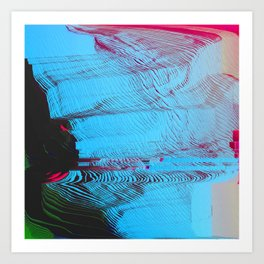 MEMORY MOSH - Glitch Art Print Art Print