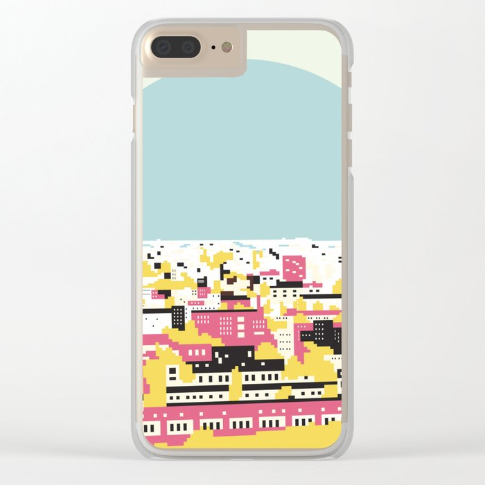 Rooftop view Clear iPhone Case
