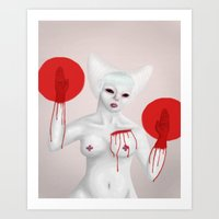 sushi Art Prints featuring Sushi by MutantJuice