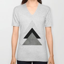 Arrows Monochrome Collage Unisex V-Neck
