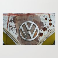volkswagen Area & Throw Rugs featuring volkswagen by Aaron Joslin Photography
