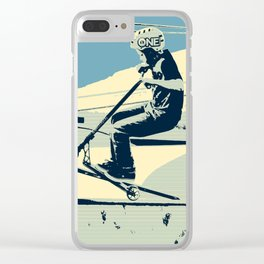 Getting Some Serious Air - Scooter Boy Clear iPhone Case