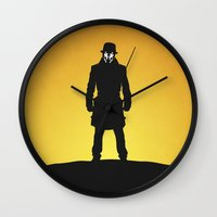 watchmen Wall Clocks featuring Watchmen by Nick Kemp