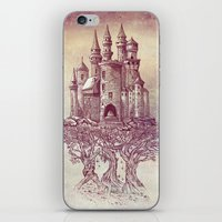 castle iPhone & iPod Skins featuring Castle in the Trees by Rachel Caldwell