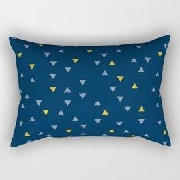 DOWN UP / midnight blue / denim / gold Rectangular Pillow
