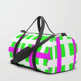 Fuchsia & Green Interlocking Stripes Duffle Bag