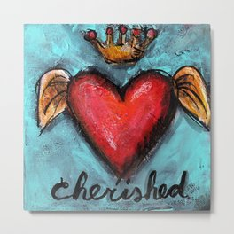 Crowned Heart - Cherished Metal Print
