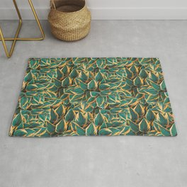 Plantain Lily Foliage Plant Pattern Rug