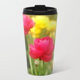 Two Pink Ranunkels Travel Mug