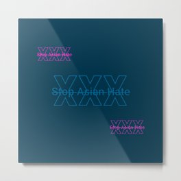 HTGBY @Insta Society6 Stop Asian Hate Campaign  - #AsianLivesMatter #ALM 78.1 Metal Print