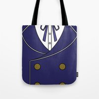 persona 4 Tote Bags featuring Persona 4 Naoto Shirogane Jacket by Bunny Frost