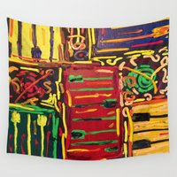 piano Wall Tapestries featuring Piano by Gabrielle Donofrio