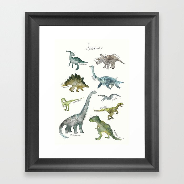 Dinosaurs Gerahmter Kunstdruck