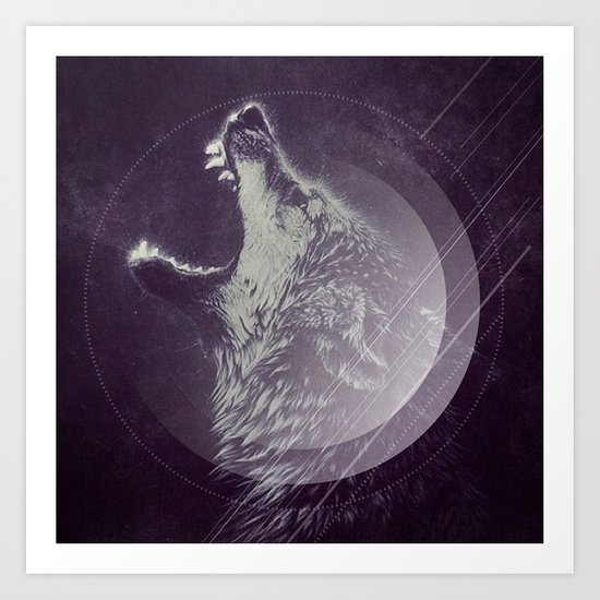 Abstract Wolf Art Print