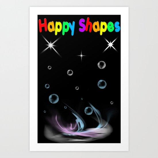 Happy Shapes Art Print