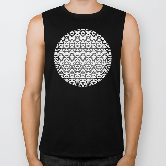 Tribal Jungle Icon Biker Tank