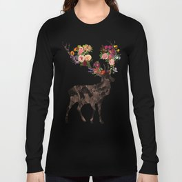 Spring Itself Deer Flower Floral Tshirt Floral Print Gift Long Sleeve T-shirt