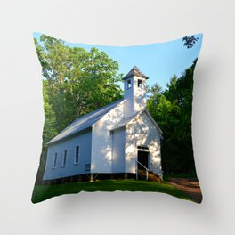 Cades Cove Baptist Church 1839 Throw Pillow