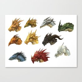 wings of fire head dragon Canvas Print