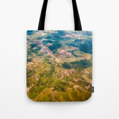 Land from the sky Tote Bag