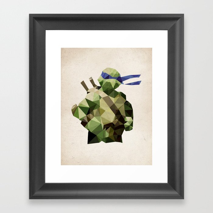 Polygon Heroes - Leonardo Framed Art Print