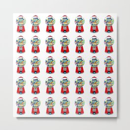 Gumball Machine 1 (Many on White) Metal Print
