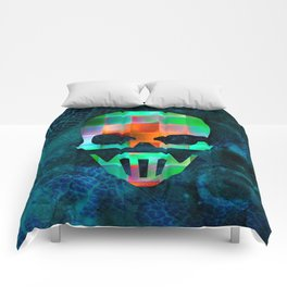 CHECKED DESIGN II - SKULL Comforters