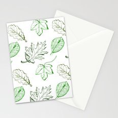 Leaves (greens) Stationery Cards