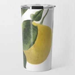 Lemon watercolour Travel Mug