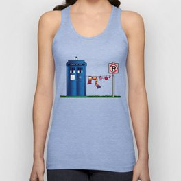 Doctor Who: tardis wardrobe  Unisex Tank Top