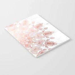 Dancing Mandala Rose Gold Notebook