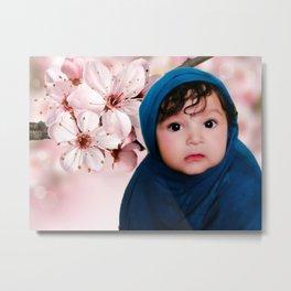 Cute Indian baby girl.. Metal Print