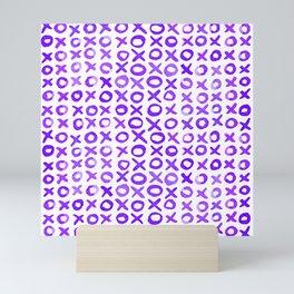 Xoxo valentine's day - purple Mini Art Print