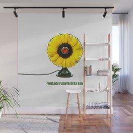 ORGANIC INVENTIONS SERIES: Vintage Flower Desk Fan Wall Mural