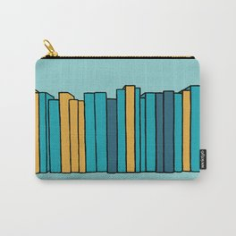 Books - teal, blue, gold Carry-All Pouch