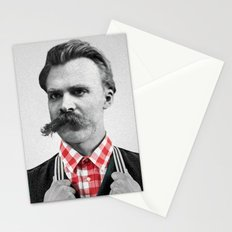Hipster Nietzsche Stationery Cards