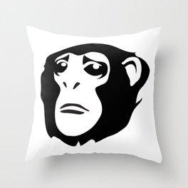 Sad Monkey Throw Pillow