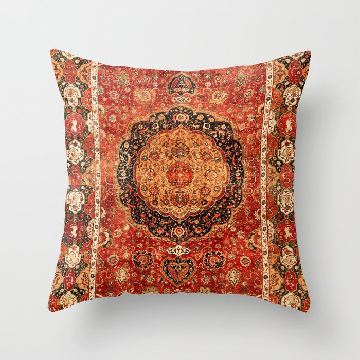 Seley 16th Century Antique Persian Carpet Print Throw