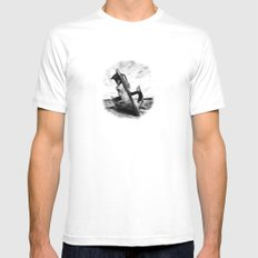Ghostly Wreck Mens Fitted Tee White MEDIUM