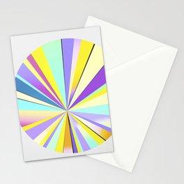 pastel sun Stationery Cards