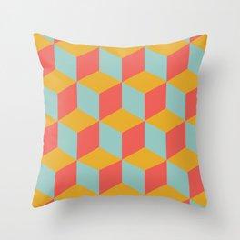 Cube pattern retro Orange #homedecor Throw Pillow