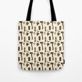Woodsman Pattern Tote Bag